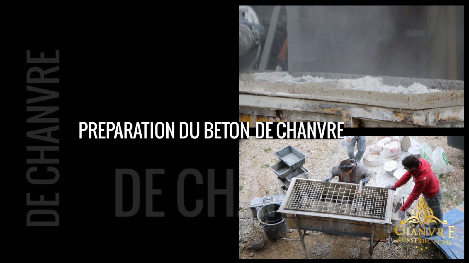 preparation du beton de chanvre
